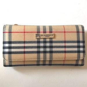 Burberry trifold checkbook wallet